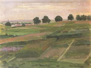 Fields overlooking Arnhem from the north