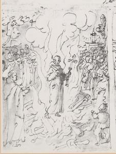 De H. Giovanni Gualberto assisteert bij de vuurproef van de H. Pietro Igneo Aldobrandini