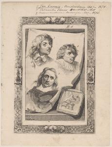 Portretten van Jan Lievens (1607-1674), Palamedes Palamedesz. (1607-1638) en Erasmus Quellinus (1607-1678)