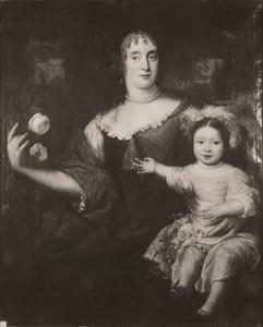 Dubbelportret van Maria van Berckel (1631-1706) en haar dochter