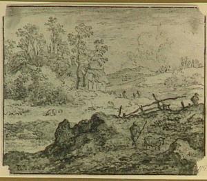 Heuvellandschap met herders