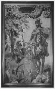 Karel de Grote veroveraar van Italië krijgt kroon en sleutels
