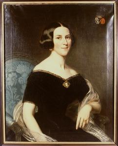 Portret van Adolphine Charlotte op ten Noort (1813-1872)