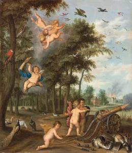 Allegorie op de elementen Lucht en Vuur