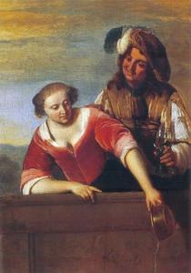 Man en vrouw op een balkon
