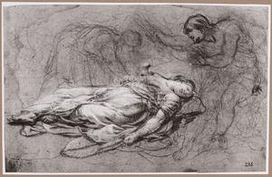 Theagenes en Cnemon ontdekken het lichaam van Thisbe