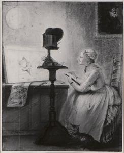 Portret van een vrouw, mogelijk Elisabeth Troost ( 1730-1790)