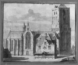 De Grote Kerk en de Waag in Workum