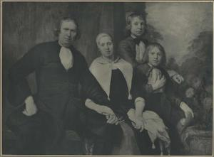 Familieportret van Floris de Lange (?-?), Trijn Jansz. (?-?), Cornelis de Lange (?-?) en Adriaen De Lange (?-?)