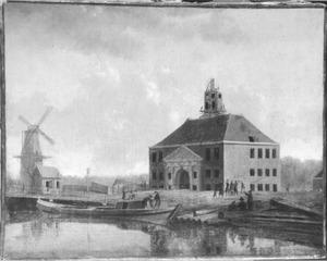 Gezicht op de Muiderpoort te Amsterdam