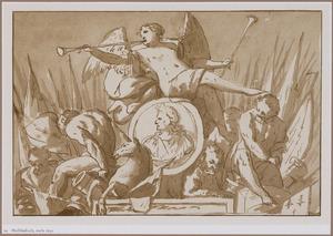 Allegorie op stadhouder-koning Willem III (1650-1702)