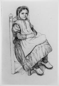 Een zittend meisje
