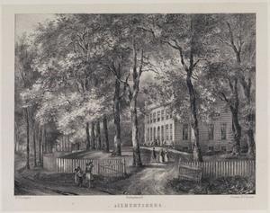 Hofstede Aelbertsberg gezien vanaf de Kennemerweg te Bloemendaal