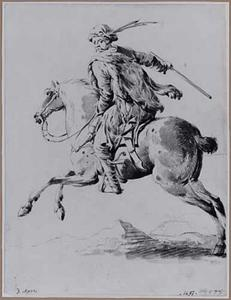 Hongaarse soldaat te paard