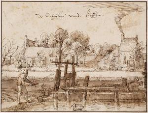 Het Karthuizerklooster te Amsterdam, met sluisje
