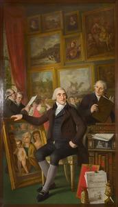Zelfportret met Josephus Augustinus Brentano (1753-1821)
