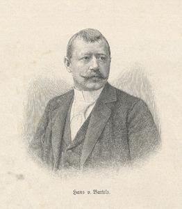 Portret van Hans von Bartels 1856-1913