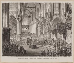 De inhuldiging van koning Willem III (1817-1890), 12 mei 1849