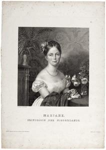 Portret van Marianne prinses van Oanje-Nassau (1810-1883)