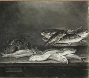 Visstilleven met pruimen