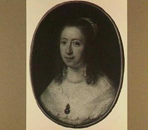 Portretminiatuur van een vrouw, wellicht Catharina Tulp (1622-1664)
