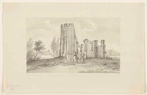 De ruïne van de kerk van Poppekerke bij Westkapelle