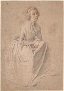 Voorstudie van Rosine Juel (1771-1831) voor het dubbelportret