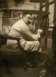 Portret van de schilder en restaurator Jef Van der Veken (1872-1964)