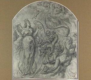 De zwangere vrouw, met de zon en de maan bekleed, en de zevenkoppige draak (Openbaringen 12)