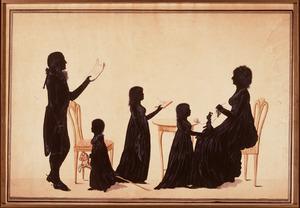 Portret van  Friedrich Wilhelm (Ludwig) von Ammon (1752-1828) en zijn gezin
