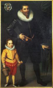 Portret van Johan van Huyssen (1566-1634) en Johannes Huyssen (1592-1653)