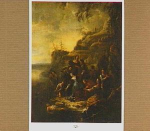Hecuba vindt het lijk van Polydorus in het water