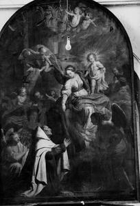 De Heilige Maagd schenkt de scapulier aan de H. Simon Stock