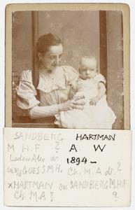 Portret van Marguerite Hermine Ferdinande Sandberg (1865-1939) en Antonie Willem Hartman (1894-1923)