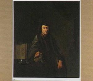 Portret van een onbekende arts, zittend in zijn studeerkamer