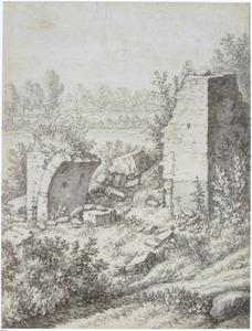 Ruïnes bij de Gildbrug in Utrecht