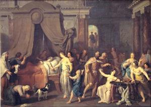 De dood van Alcestis; zij kiest ervoor te sterven in plaats van haar echtgenoot Admetus