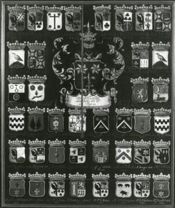 Wapenbord van de voogden van het Popta-Gasthuis te Marssum