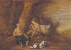 Mercurius speelt Argus met zijn fluitspel in slaap
