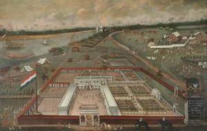 De handelsloge van de VOC in Hougly in Bengalen