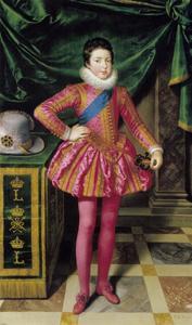 Statieportret van koning Lodewijk XIII van Frankrijk op 10-jarige leeftijd
