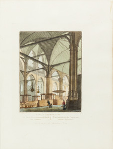 Interieur van de oude gereformeerde kerk in Amsterdam