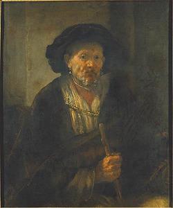 Oude man met een stok