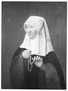 Portret van Jacomina Claesdr. van Ruyven gez. Tetrode ( -1509)