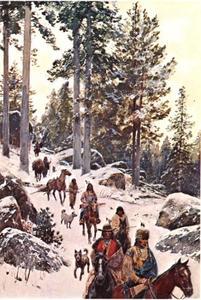 Op pad in de winter
