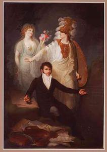 Zelfportret met allegorische figuren