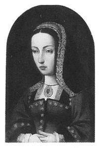 Portret van Johanna 'de Waanzinnige' van Aragon en Castilië (1479-1555)