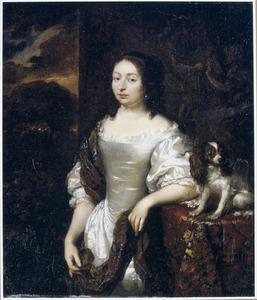 Portret van een vrouw met een hondje