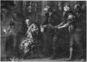 Consul Manius Curius Dentatus weigert de geschenken van de Samnieten