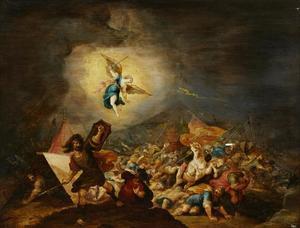De nederlaag van Sanherib (2 Koningen 32: 20-21; Jesaja 37:36-37 )